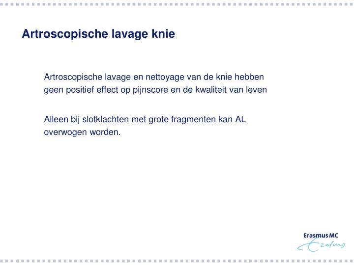 Artroscopische lavage knie
