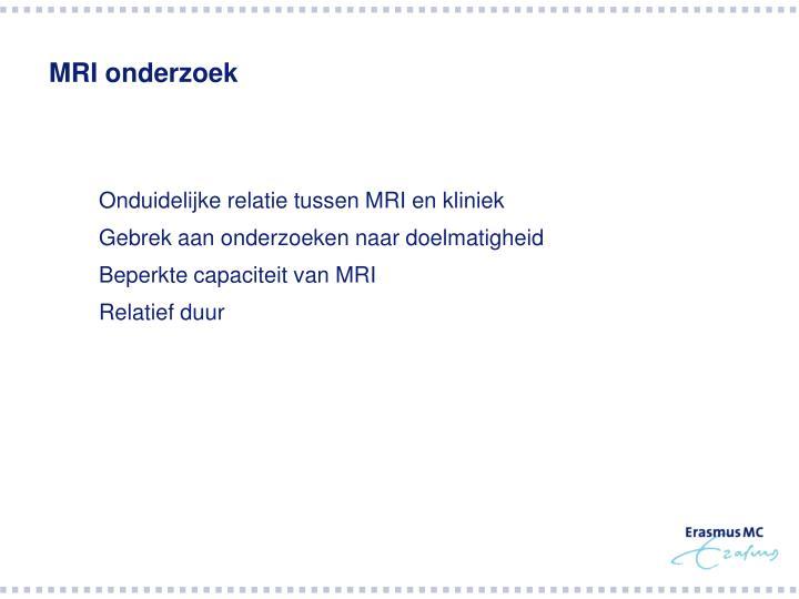 MRI onderzoek