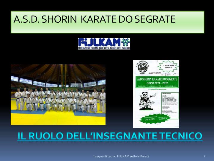 A s d shorin karate do segrate