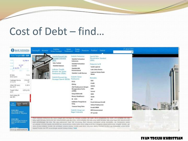 Cost of Debt – find…