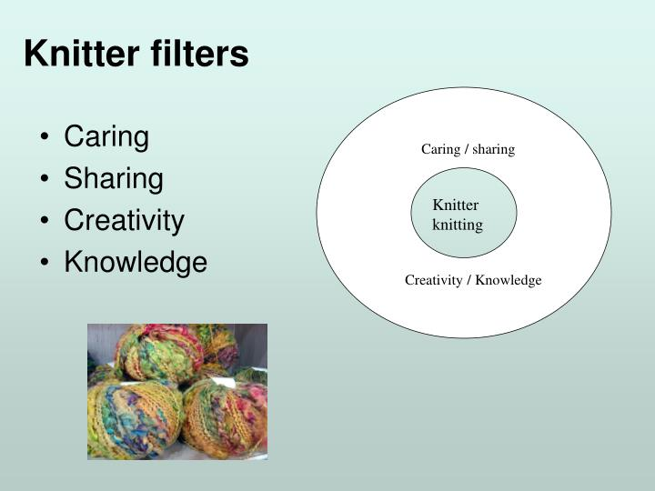 Knitter filters