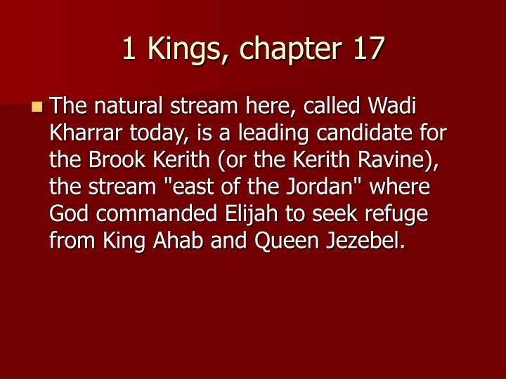 1 Kings, chapter 17