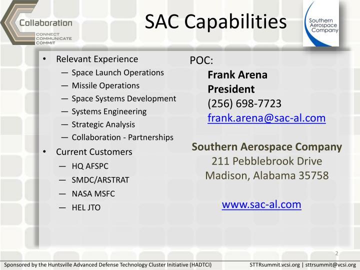 SAC Capabilities