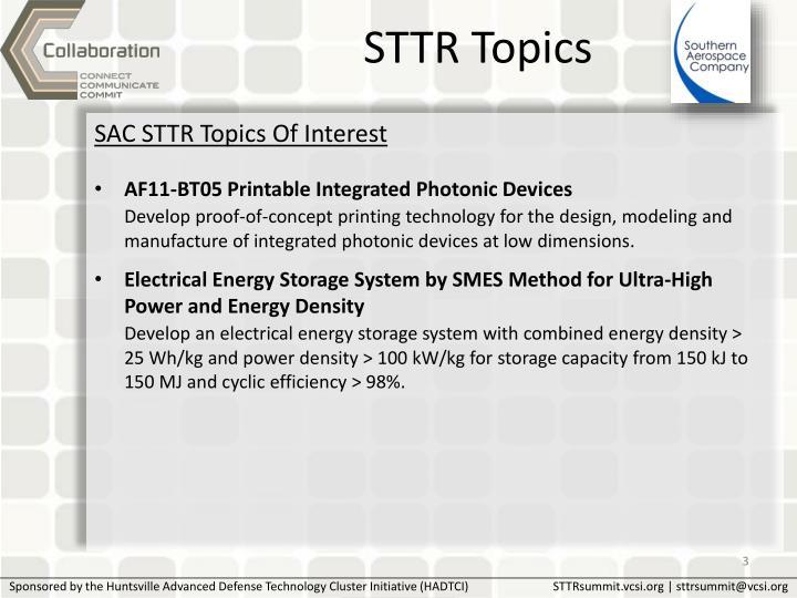 STTR Topics