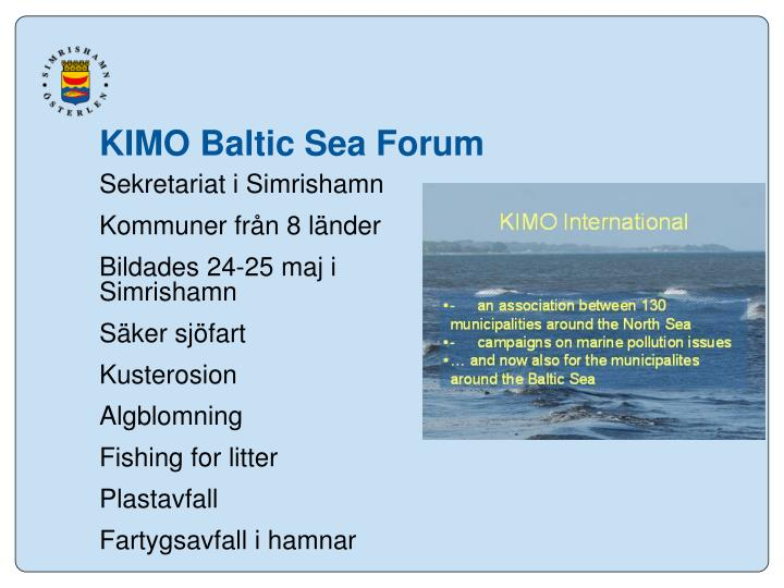 KIMO Baltic Sea Forum