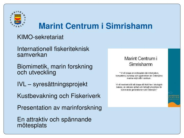 Marint Centrum i Simrishamn