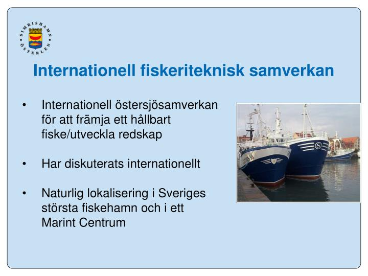 Internationell fiskeriteknisk samverkan