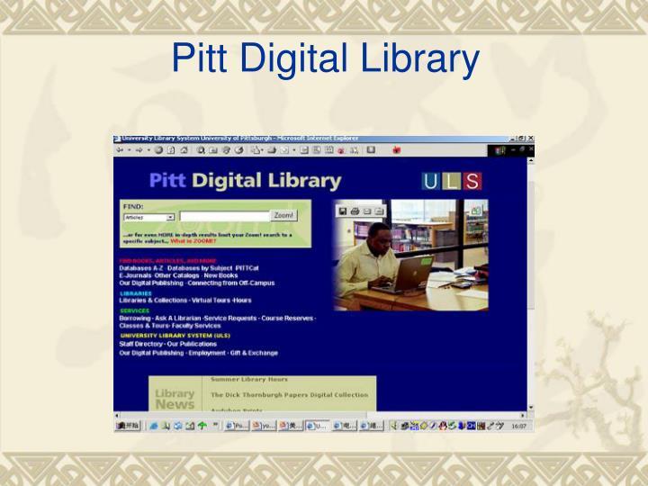 Pitt Digital Library