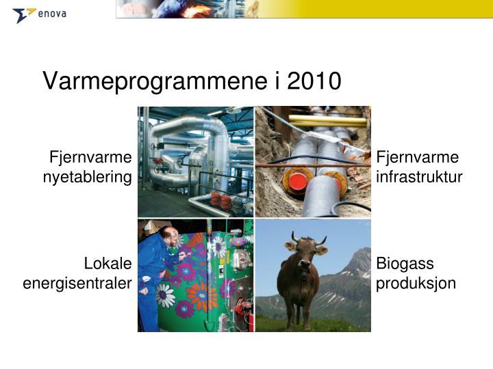 Varmeprogrammene i 2010