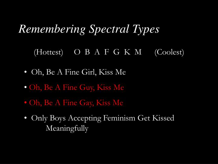 Remembering Spectral Types