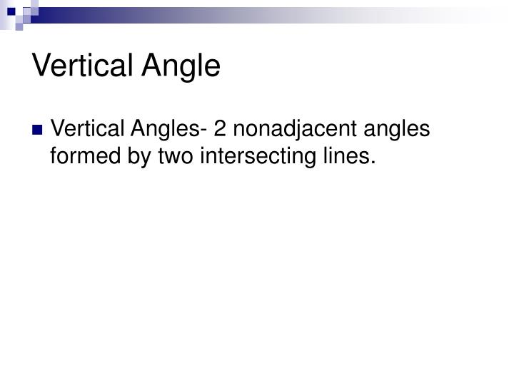 Vertical Angle