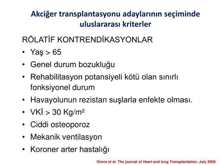RÖLATİF KONTRENDİKASYONLAR