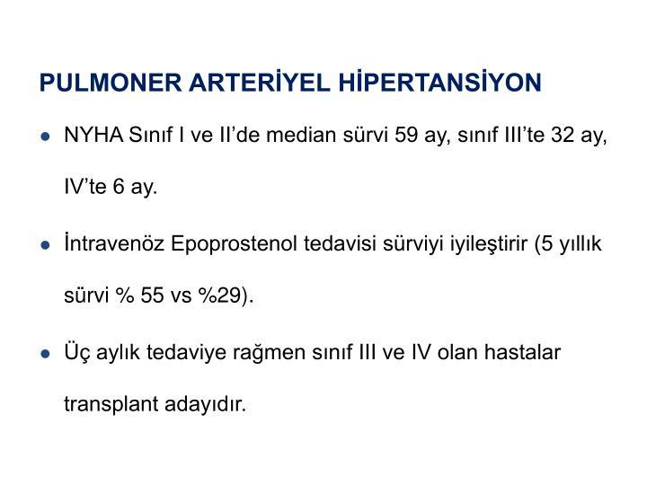 PULMONER ARTERİYEL HİPERTANSİYON