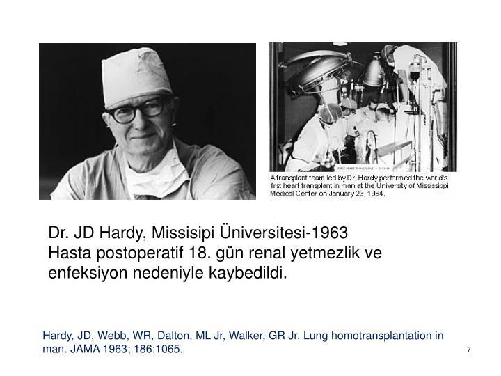 Dr. JD Hardy, Missisipi Üniversitesi-1963