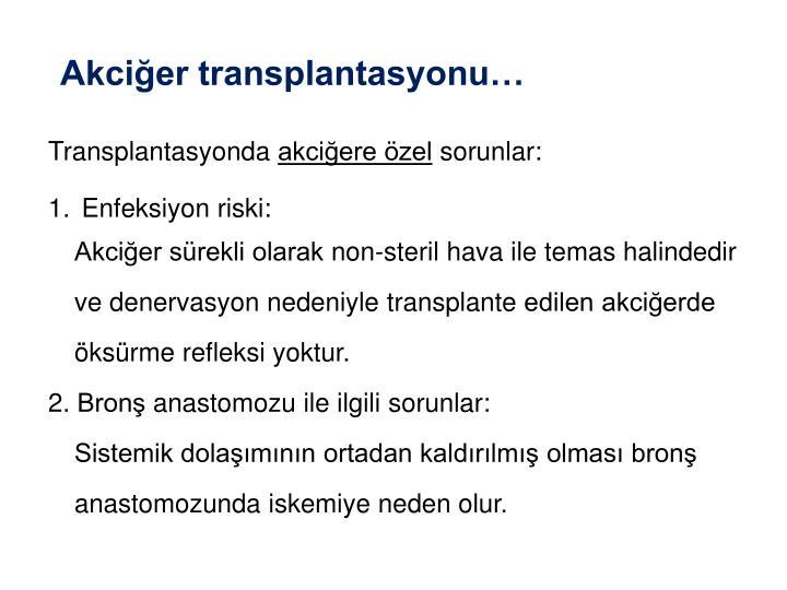 Akciğer transplantasyonu…