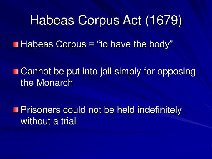 Habeas Corpus Act (1679)