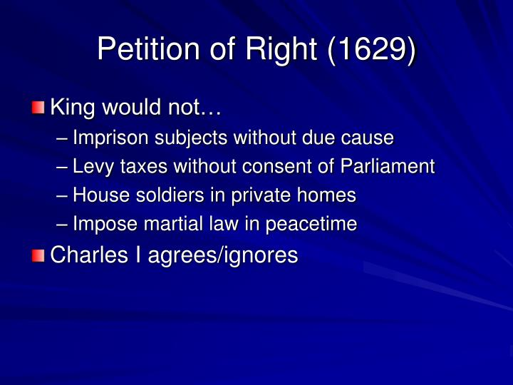 Petition of Right (1629)