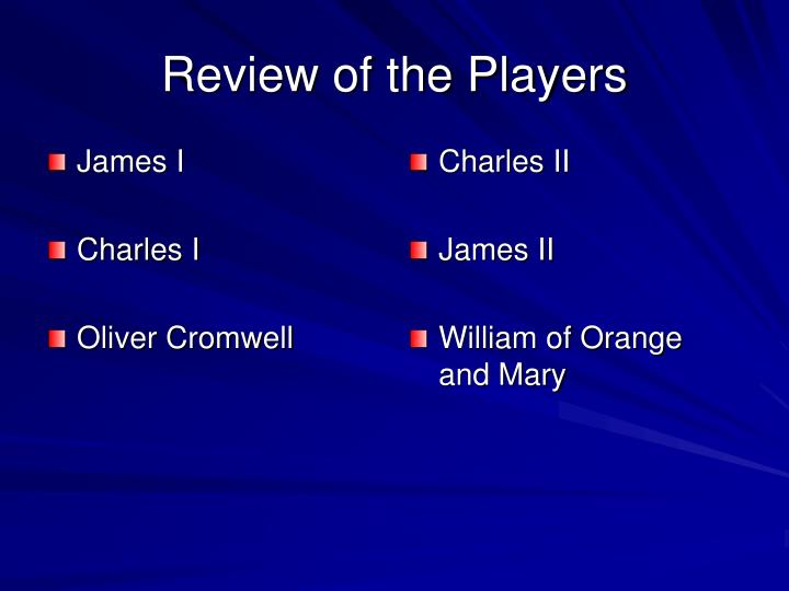 Review of the players