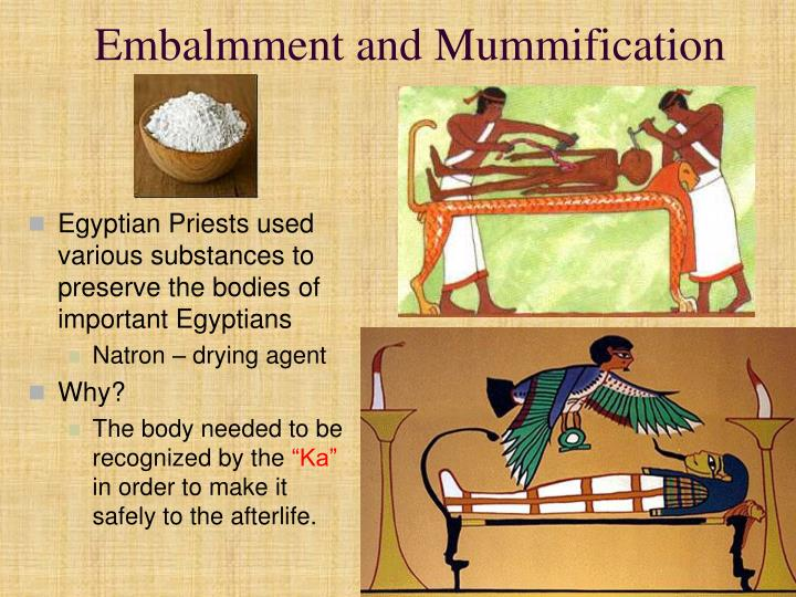 Embalmment and Mummification
