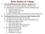 basic outline of 1 kings
