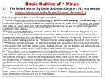 basic outline of 1 kings1