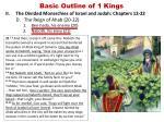 basic outline of 1 kings12