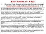 basic outline of 1 kings2