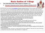 basic outline of 1 kings3