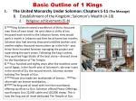basic outline of 1 kings5
