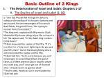 basic outline of 2 kings1