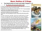 basic outline of 2 kings2