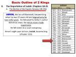 basic outline of 2 kings7