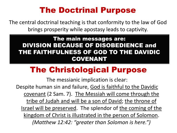 The Doctrinal Purpose