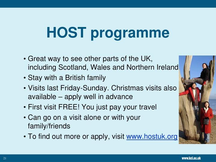 HOST programme