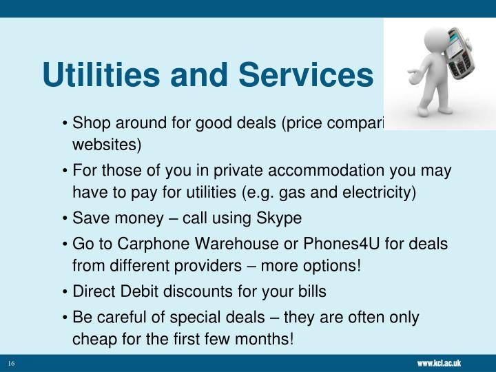 Utilities and Services
