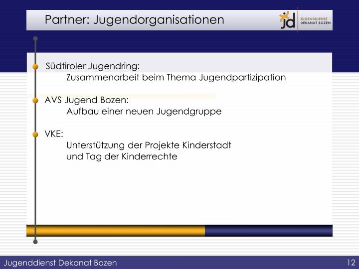 Partner: Jugendorganisationen