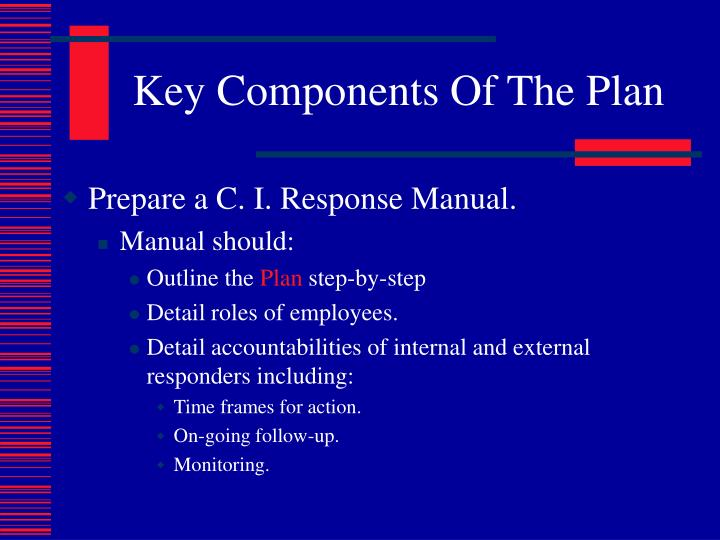 Key Components Of The Plan