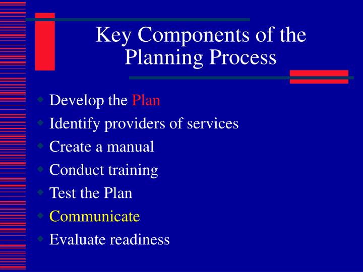 Key Components of the Planning Process