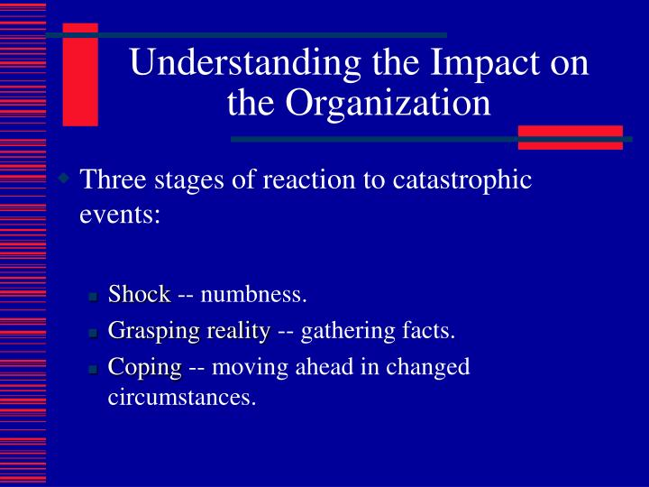 Understanding the Impact on the Organization