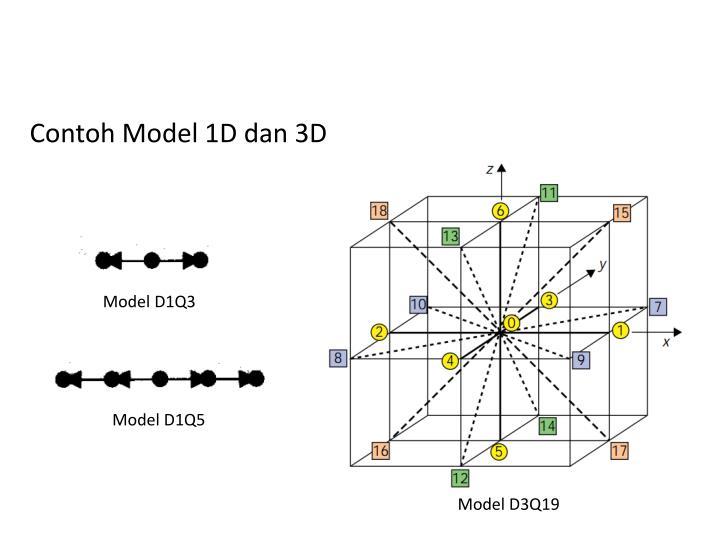 Contoh Model 1D dan 3D