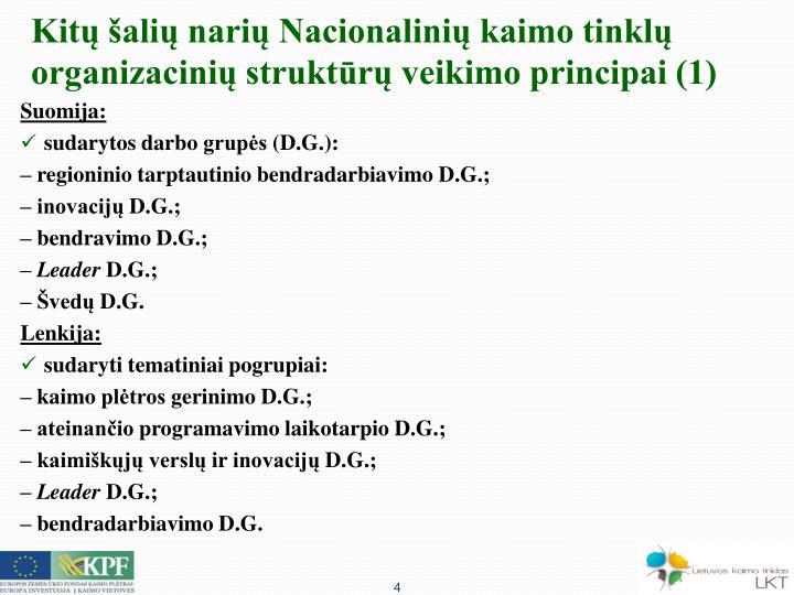 Kitų šalių narių Nacionalinių kaimo tinklų organizacinių struktūrų veikimo principai (1)
