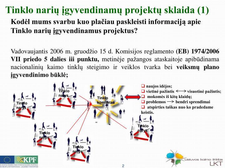Tinklo narių įgyvendinamų projektų sklaida (1)
