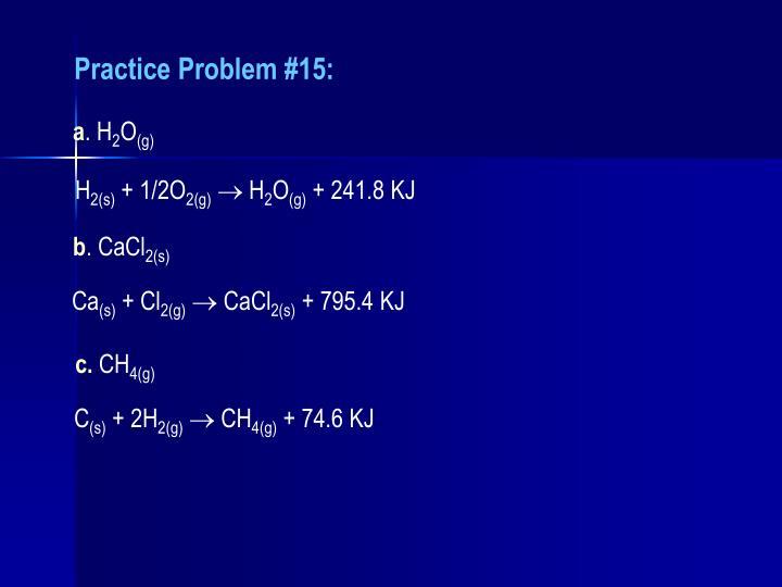 Practice Problem #15: