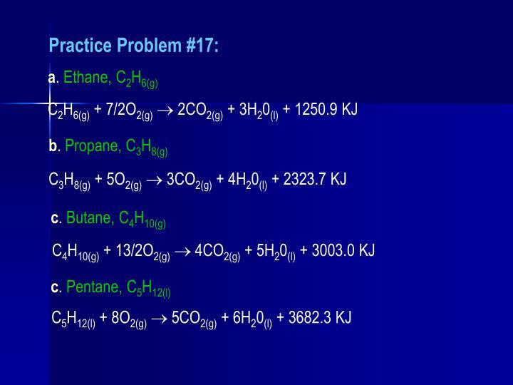 Practice Problem #17: