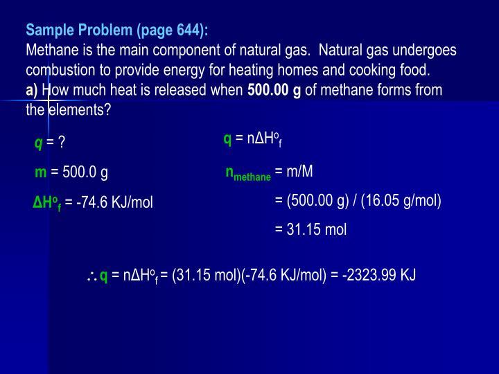 Sample Problem (page 644):