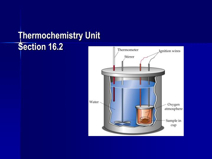 thermochemistry unit section 16 2