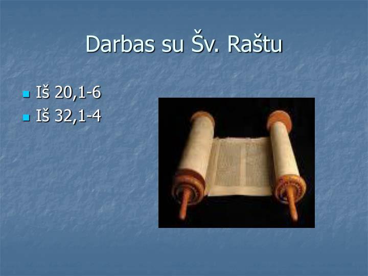 Darbas su Šv. Raštu