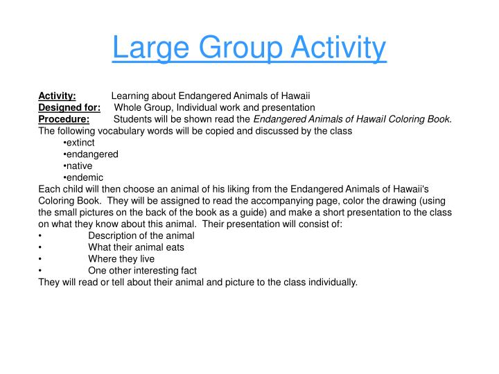 Large Group Activity