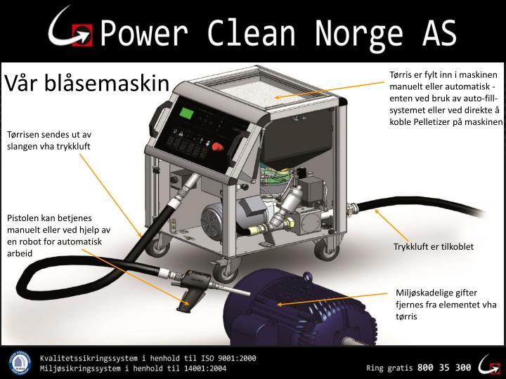 Tørris er fylt inn i maskinen manuelt eller automatisk - enten ved bruk av