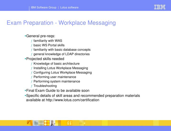 Exam Preparation - Workplace Messaging